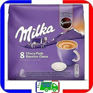 Lot de 80 Dosettes Senseo Milka Chocolat (10 x 8) pour machine à café Senseo