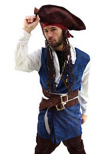 Costume: Pirate Men's Caribbean Privateer Caribbean Plack Pearl Pirate Size 52