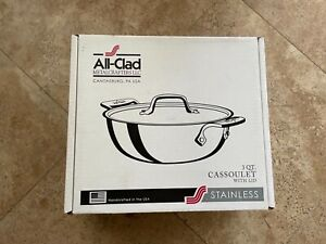 All-Clad 3QT Cassoulet with Lid - NIB - Model# 421349