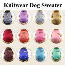 Dog Sweater Puppy Pet Cat Warm Knitwear Costume Coat Apparel Jumper Knit Clothes