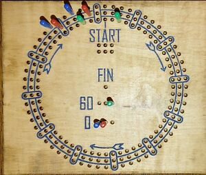 3 player cribbage board