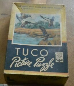 """VINTAGE TUCO PUZZLE  1958 """"MALLARDS LANDING"""" Complete. Free Shipping"""