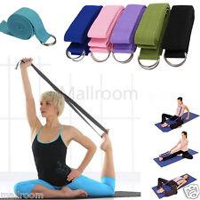 Baumwolle Yoga Gurt Training Gürtel Fitness Exercise Gym 180cm Metall-Verschluss