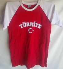 Turkey Turkiye Red Shirt Top Juniors Youth Small Used nice