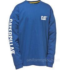 Caterpillar T shirt Men CAT Long Sleeve Graphic Logo Tee T- Shirts Cotton Colors