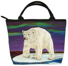 Polar Bear Handbag- Small Purse -From my Original Painting