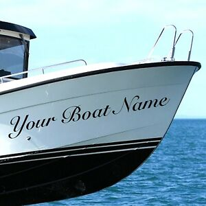 4 x PERSONALISED BOAT NAME STICKER Decals Stickers Graphics MOTOR HOME KAYAK