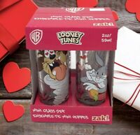 LOONEY TUNES VALENTINES DAY Glassware Set of 4 Shot Drinking Glasses Bugs Taz