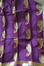 South Indian silk Cotton  saree, maroon with Zaree border
