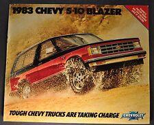 1983 Chevrolet S-10 Blazer Truck Catalog Brochure Tahoe Excellent Original 83