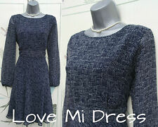 M&S Collection - Stunning 40's Style Navy Mix Tea Dress Sz 14 EU42