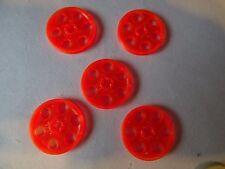 Lego 9x Genuine Technic Medium Stone Grey Poulies Bobines roues 4185 4494222 NEUF