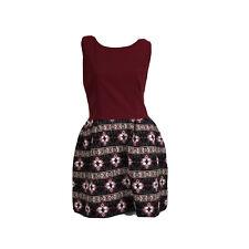 Boutique Ladies Red Black Aztec Sleeveless Puff Skirt Dress UK Size 10-12