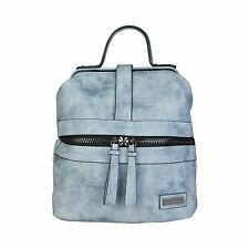PIERRE CARDIN DESIGNER WOMENS MEDIUM FAUX SUEDE BACKPACK BLUE