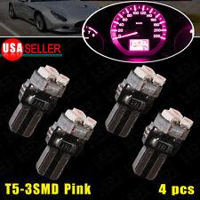 4X T5 3SMD Pink Purple Dashboard Gauge Cluster LED Bulb Light 73 74 70 37 17 18