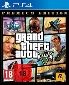 GTA 5 Grand Theft Auto V Premium Edition (PS4) (NEUWARE) (UNCUT) (Blitzversand)