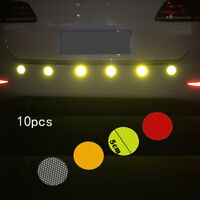 Round Car Reflective Sticker Safety Warning Strips Bus Bicycle Backpack Decal