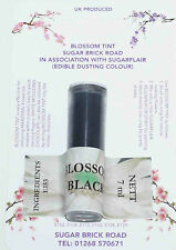 Sugarflair Black Blossom Tint Powder, 7ml, Edible Food Colour, Dust, Sugarcraft