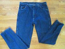 WRANGLER  STRAIGHT LEG DARK BLUE JEANS DENIM  MEN 40 36  QUICK SHIPPER