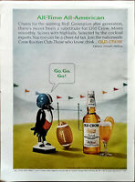 Old Crow Kentucky Straight Bourbon Whiskey All-Time All-American Vintage Ad 1965
