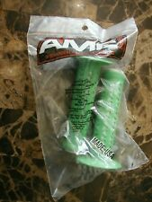 Old School Free Style BMX GT A'ME OAKLEY Style GRIPS GREEN & WHITE Bubble