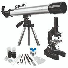 Refractor Telescope 60x129 & 900x Microscope Set with 17 Accessories Zennox-NEW