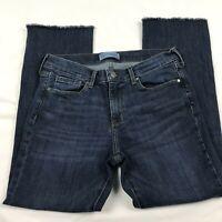 Banana Republic Jeans Size 28 Premium Denim Women's Cropped Flare Raw Hem