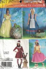 Misses Costumes with Coordinating Dog Costumes Simplicity 2827 Uncut  Sizes XS-M