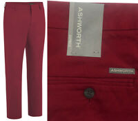 Ashworth Golf Ez-Tec2 Flat Front Golf Trousers - Rum Red - RRP£60 -ALL SIZES