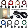 Fabric Flex Cable kit UK Plug In Pendant Lamp Light Set E27 Fitting Vintage Bulb