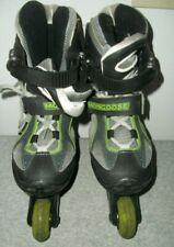 Mongoose Abec 1 Inline Skates Adjustable Sizes 1 2 3 Black/Green - Boy/Girl