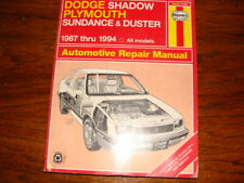 Dodge Shadow/Plymouth Sundance/Duster 1987 thru 1994 Haynes Repair Manual...