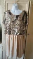 river island  sparkly sequins midi dress size  18 bnwt still with £50 tags