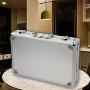Watch Case Briefcase For 24 Watches Aluminum Trimmed Steel Collector Storage Box