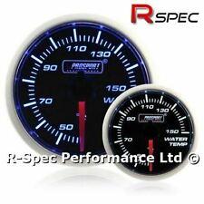 Prosport 52mm Super Blue / White Stepper Motor Water Temp Temperature Gauge °C