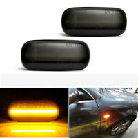 LED Side Marker Lights Amber Smoke Signal Light For Audi A4 S4 RS4 B8 2005-2008