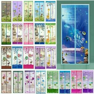 Style Mesh Door Magic Curtain Net Magnetic Snap Fly Bug Insect Mosquito Screen