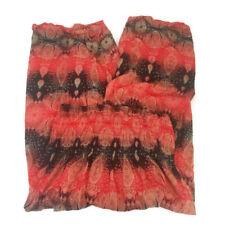 Harem Pants Womens Bloomers Bohemian Boho Elastic Waist Red Paisley No Size Tag