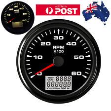 85mm Tachometer Tacho Gauge With Hour Meter Waterproof 6000 RPM Car Truck Marine