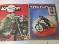 """LOT de 2 Revues """"MOTOCYCLES"""" N°44 de 1950 et N°49 de 1951"""