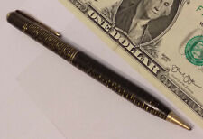 Vintage Parker Vacumatic mechanical pencil gold and brown marble striped