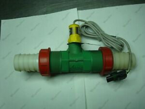 """TEE-JET FLOWMETER 1-1/2"""" 290 PSI WITH SENSOR AND BARB CONNECTORS NNB"""