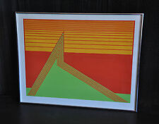 "HAL KAYE - SILKSCREEN PRINT - LMTD. ED 3/8 SIGNED - ABSTRACT MODERN ""PEAK"" 1975"