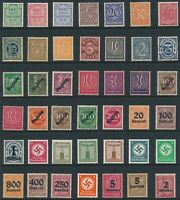 Lot Stamp Germany Officials WWII Third Reich Inflation Era Dienstmarken MNH U MH