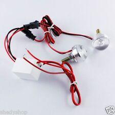 Universal Bike Motorcycle Red LED lens Light Strobe Flashing 3w 12v