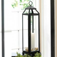 "Tower Lantern 20"" Tall Iron Glass Large Black Candleholder Wedding Centerpiece"