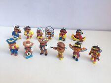 "VINTAGE HARIBO Wilder Western KINDER FIGURINE 1.5"" Cowboy e Indiani 1990s 12"