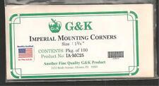 G & K Mounting Corners Corners Package of 100  - Unopened