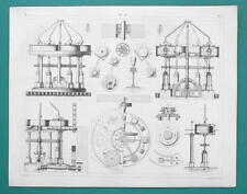 FLOUR Stone Grinding Mills Cast Iron Machinery - 1844 Superb Print