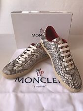 Moncler Python Leather Trainers Sneakers Shoes Italy New$695 Women's ~ 8/38